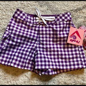 NWT Kanu Girls Swim Shorts Size Unlined Purple